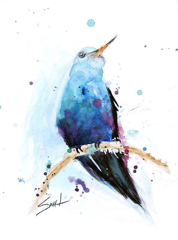HUMMINGBIRD ARTWORK - hummingbird watercolor bird painting ...