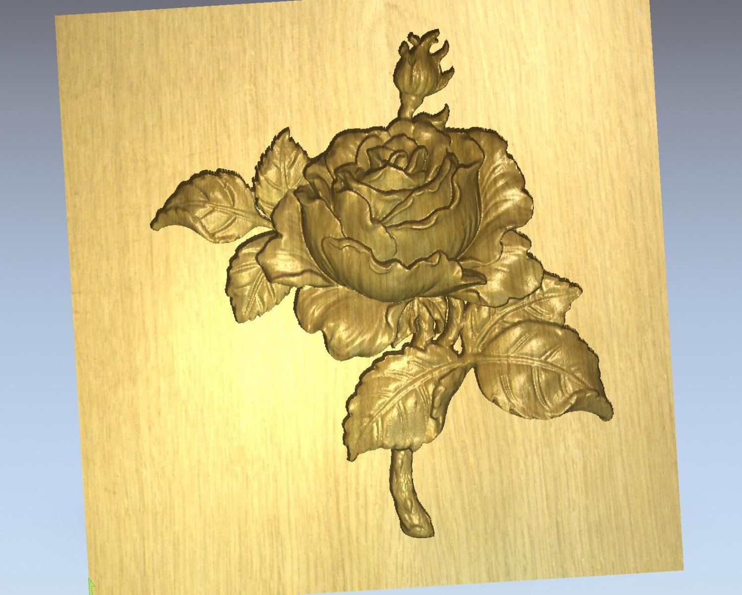 Grayscale 3d relief picture and images - Beautiful Rose 3d Model For Cnc Route Milling By Temp4cnc On Etsy