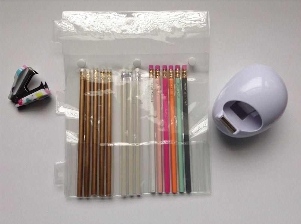 19 pocket binder sleeve 28035 clear plastic 3 ring binder pencil