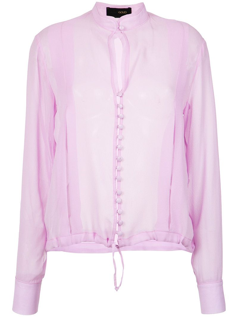 sheer longsleeved shirt - Pink & Purple Andrea Bogosian Free Shipping Cheap Real Geniue Stockist Cheap Online Sale Authentic Cheap Countdown Package uJvWMMKh