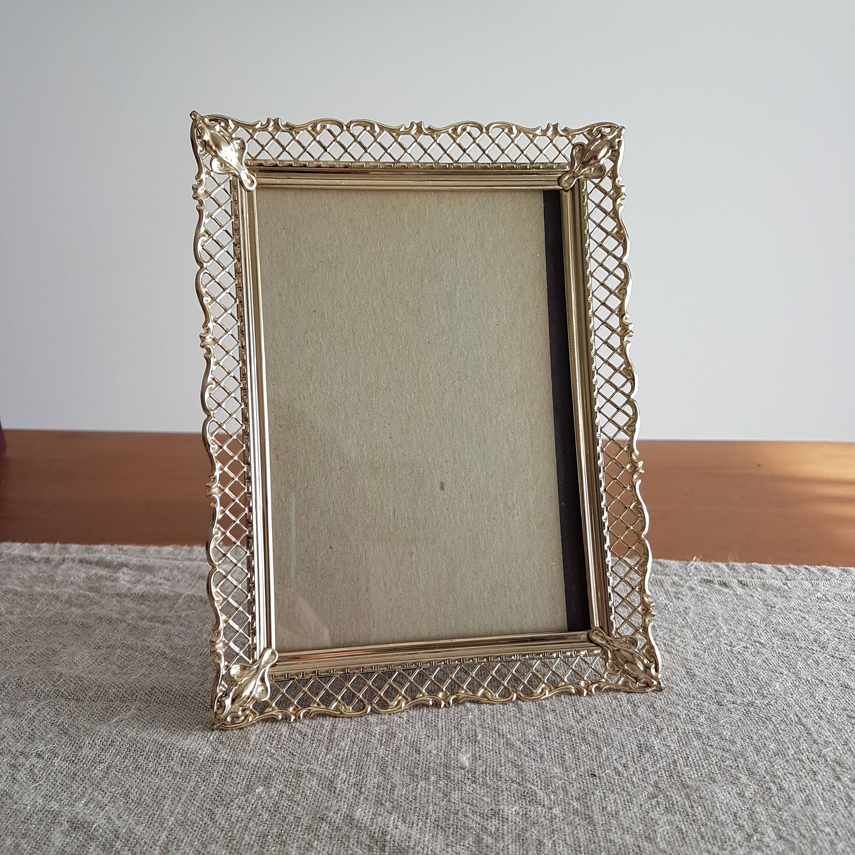 5 x 7 brass gold tone metal picture frames w ornate filigree 5 x 7 brass gold tone metal picture frames w ornate jeuxipadfo Images