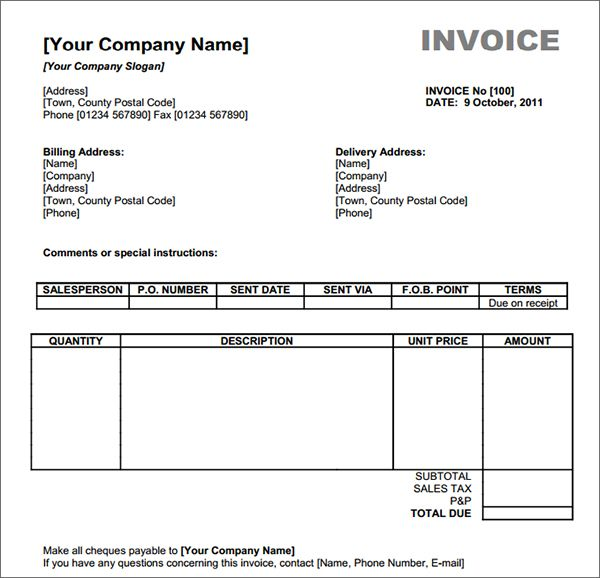 Invoice Template To Download Enfqenfq  Invoice    Template