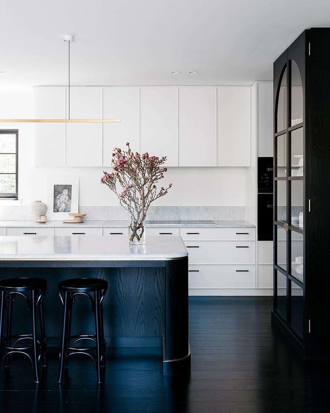Sleek Black White Kitchen Black Kitchen Floors By Arent Pyke