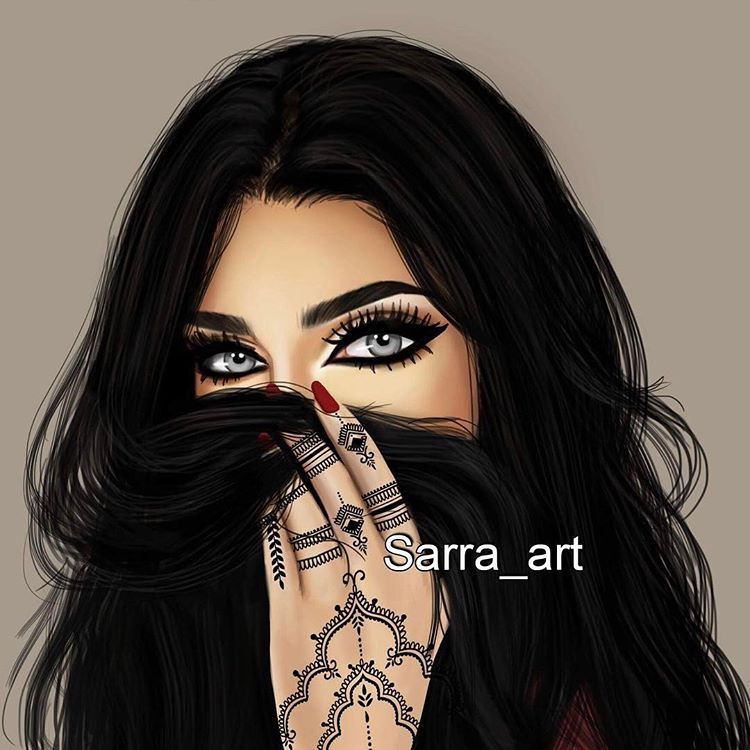 رأيكم في رسمتي الجديده منشن اللي بتحب الميك اب Sarra Art Girly Drawings Digital Art Girl