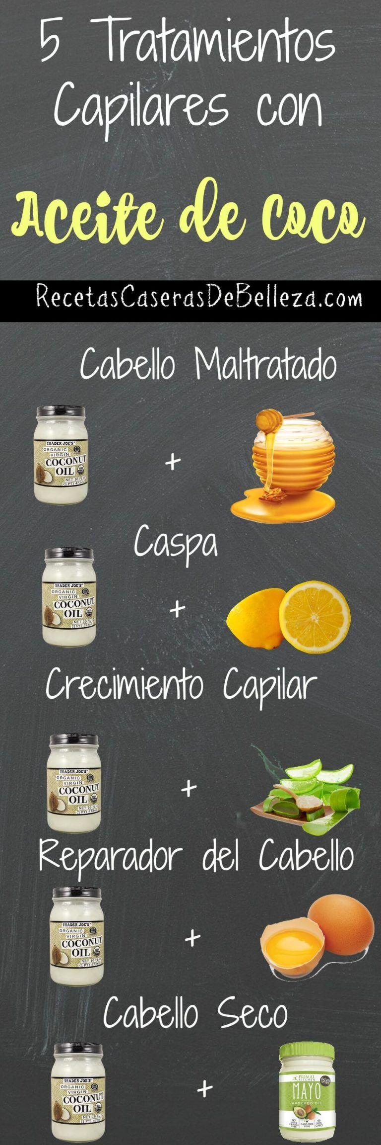 5 Tratamientos Capilares con Aceite de Coco Que Debes Tratar