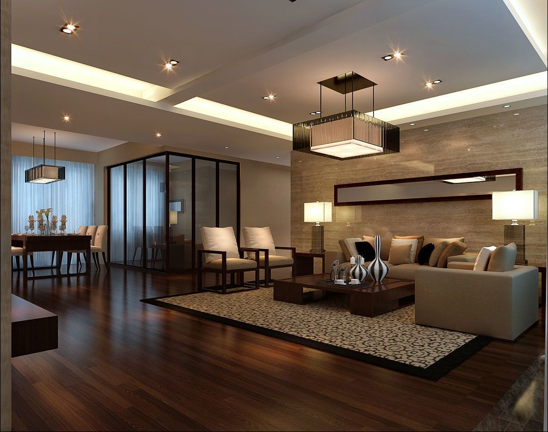 Stylish luxury home decoration - living room 3D model MAX ...