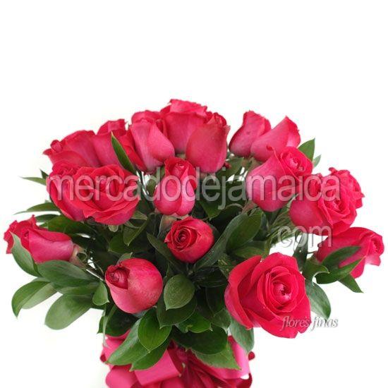 Arreglos Florales Rosas Fucsia Encanto ! Envia Flores Arreglos