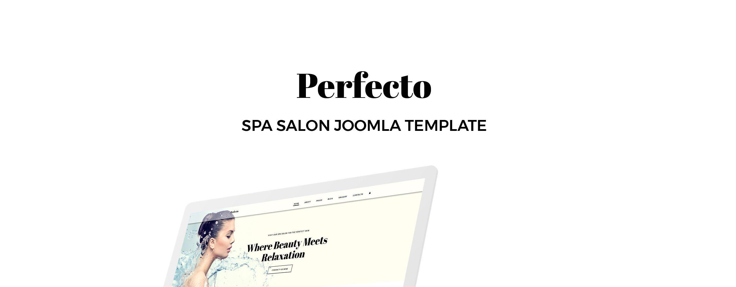 Perfecto Spa Salon Joomla Template  Joomla Templates  Ideas of Joomla Templates  Perfecto Spa Salon Joomla Template