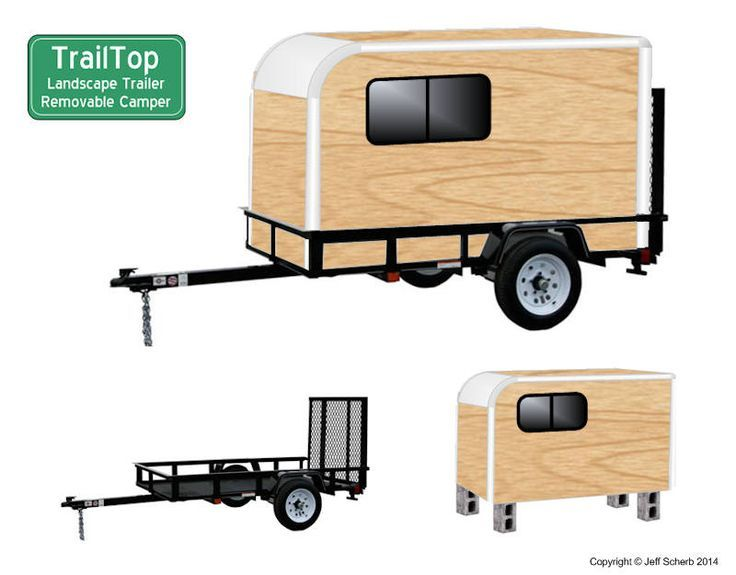 DIY Tent Campers You Can Build on a Tiny Trailer | Tent