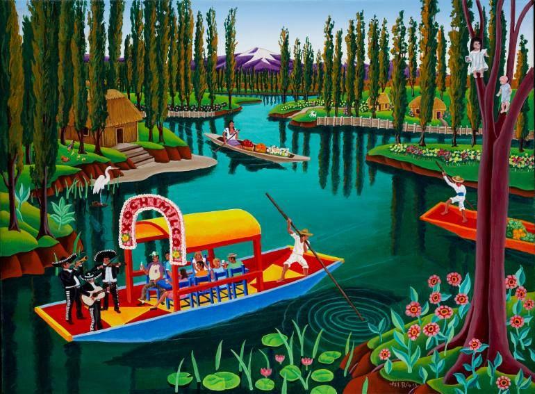 Mexico Xochimilco Raul Del Rio Con Imagenes Obras De Arte