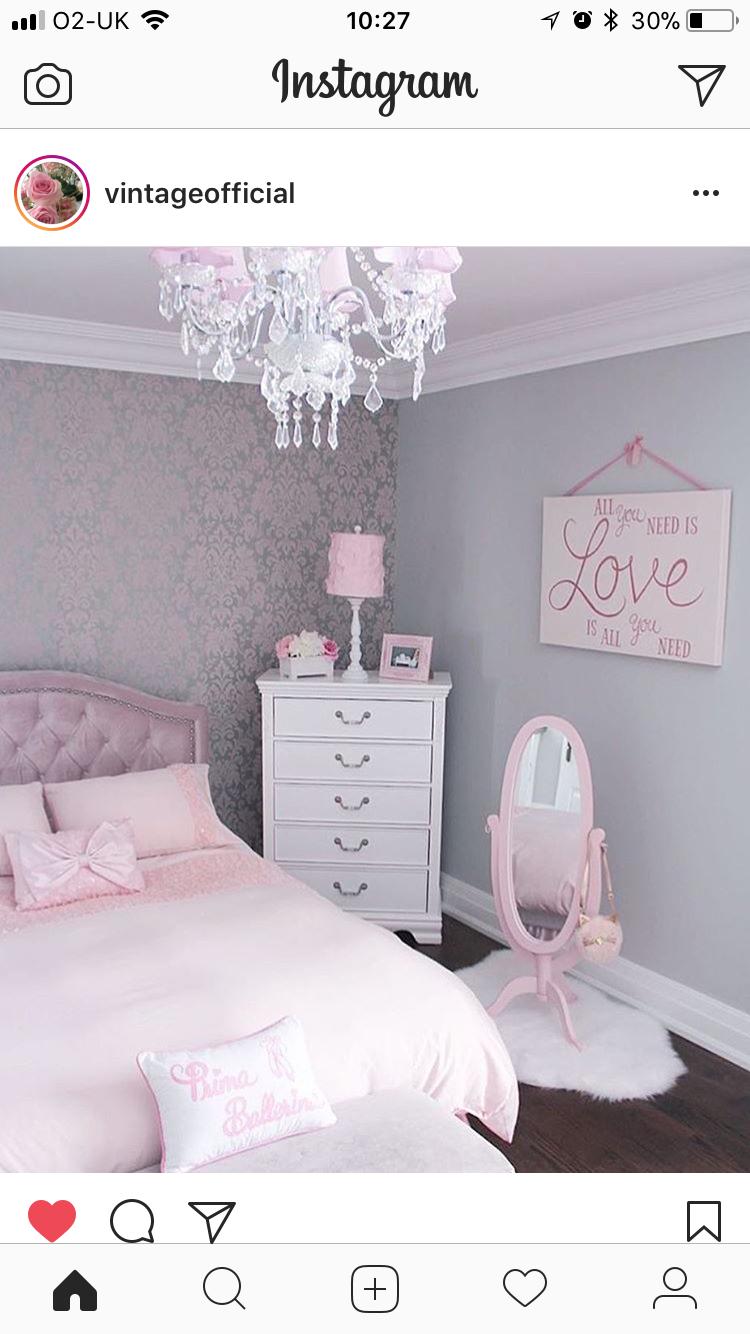 Girls bedroom idea  Girl bedroom decor, Pastel girls room