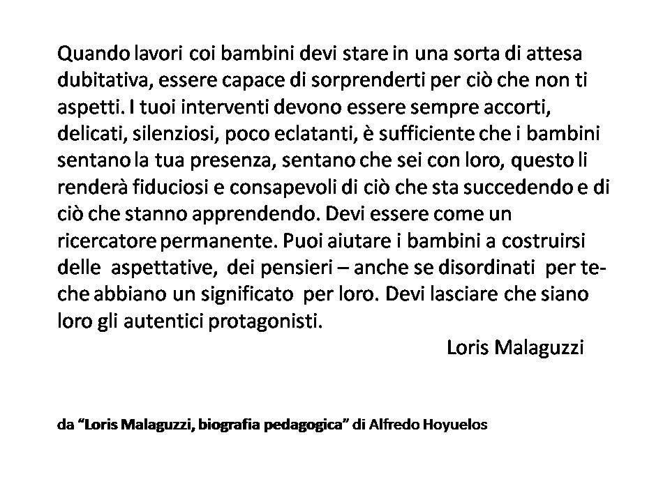 Loris Malaguzzi Citazioni Scuola E Sentimenti
