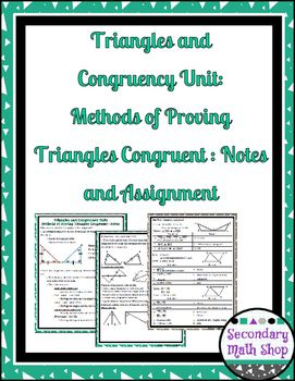 Triangles/Congruency #5 - 5 Methods of Proving Triangles Congruent ...