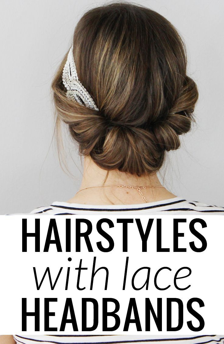 easy to follow tutorials for hairstyles with lace headbands so