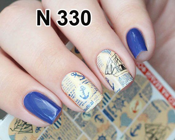 Nail decals Letters nail stickers Sea nail art decal Nails ...