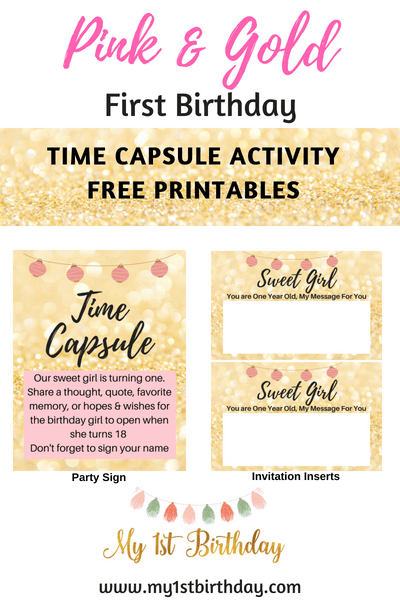My1stbirthday Com Nbspthis Website Is For Sale Nbspmy1stbirthday Resources And Information Free Birthday Stuff Gold First Birthday Time Capsule