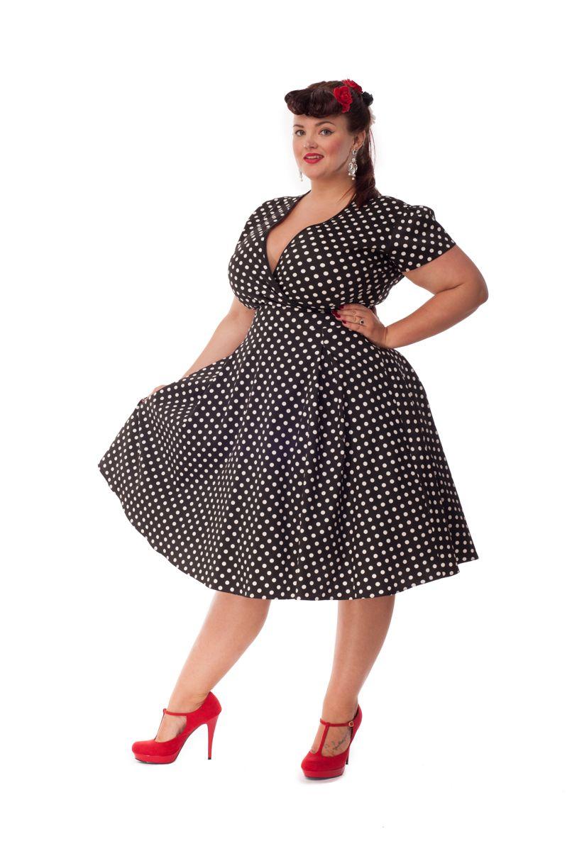 rockabilly klänning stor storlek