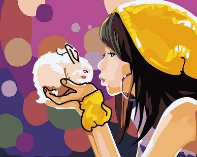 Картина по номерам Mariposa Девочка с кроликом худ Донcкис ...