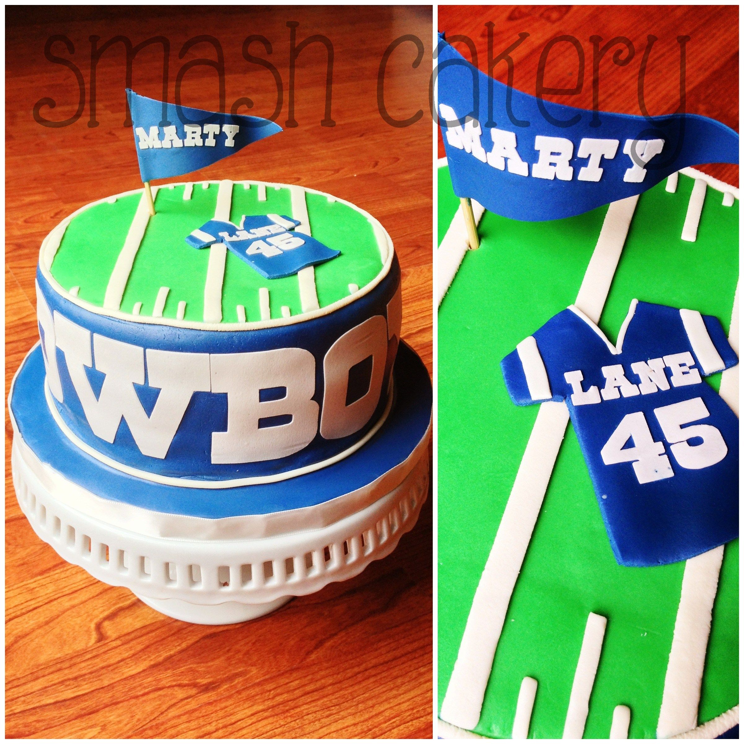 Dallas Cowboys cake. All fondant ab6db22a274e