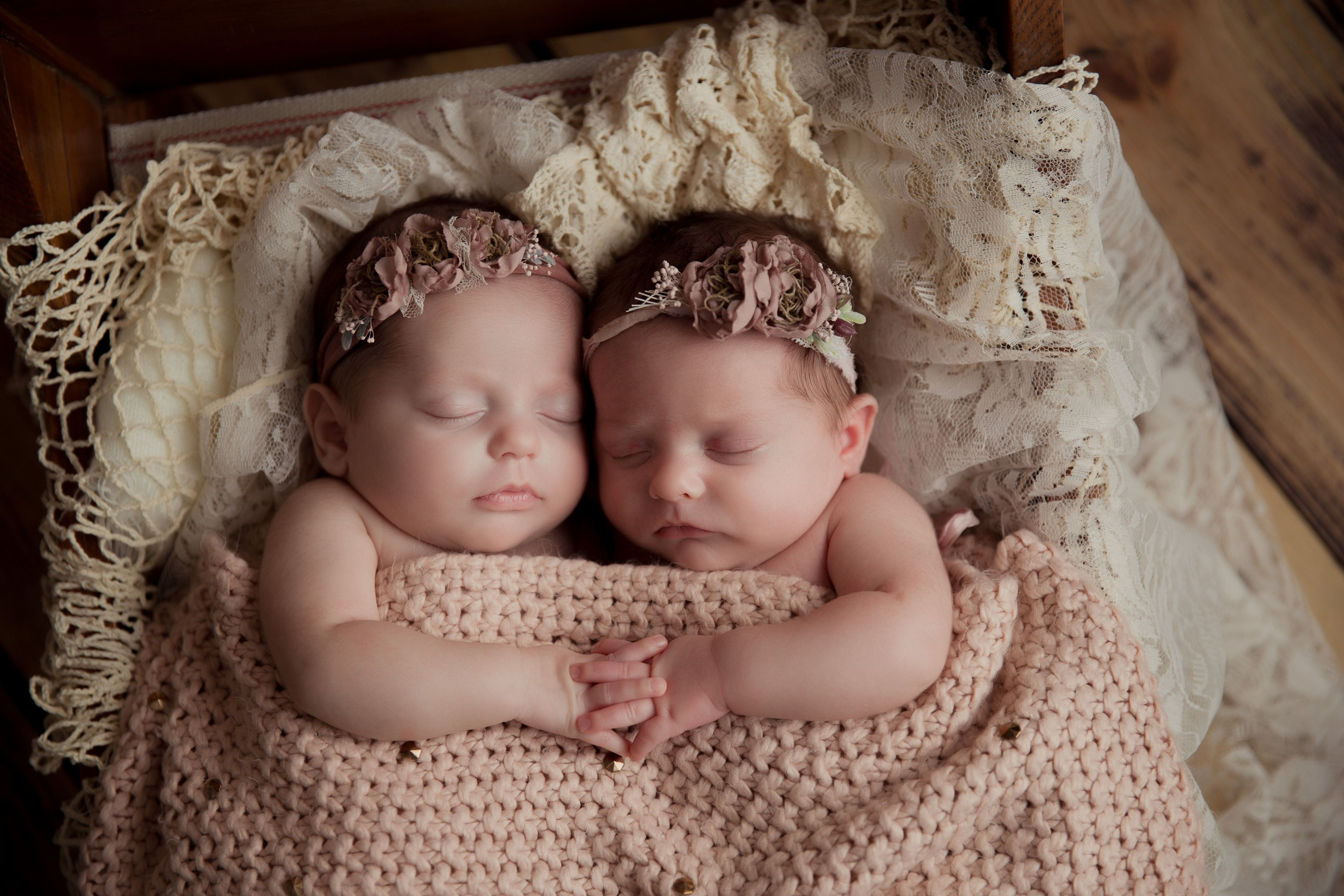 Newborn Photos Of Preemie Girl Twins Born At 32 Weeks The