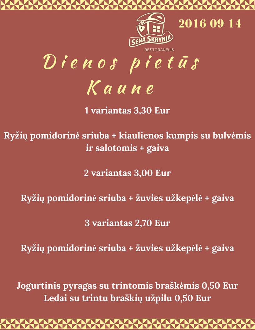Gardūs Dienos Pietūs Kaune 1 Variantas 330 Eur Ryžių Pomidorinė
