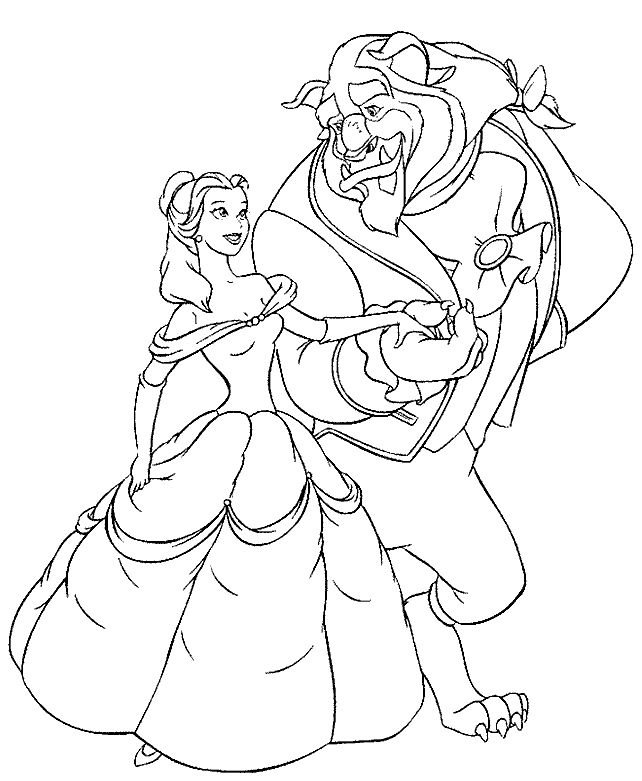 Printable Coloring Pictures Of Beauty And The Beast. Beauty And The Beast Printable Coloring Pages  Free oloring