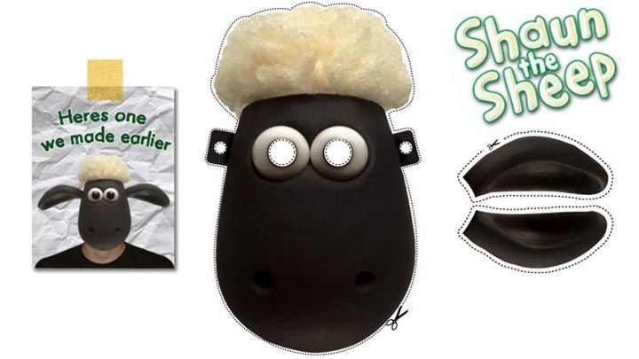 get this shaun the sheep face mask ideas for gabriel s 5th