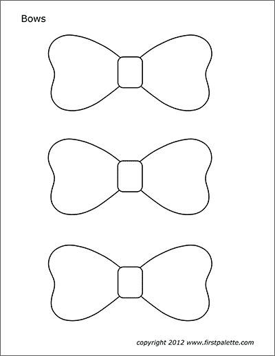 Bows Free Printable Templates Coloring Pages Firstpalette Com Templates Printable Free Bow Template Bows
