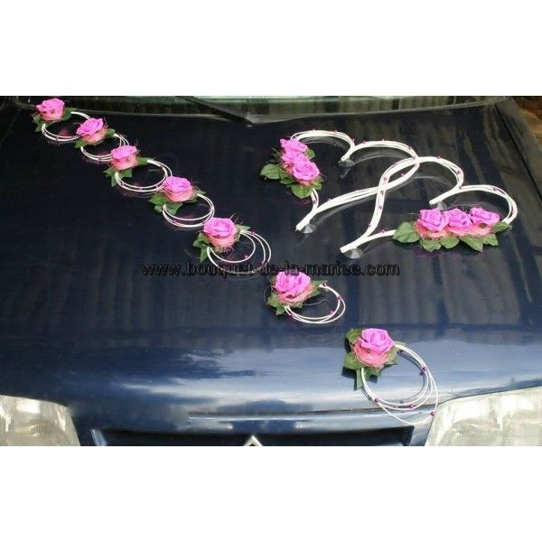 D coration voiture mariage coeur sur http bouquet de la for Decoration voiture mariage