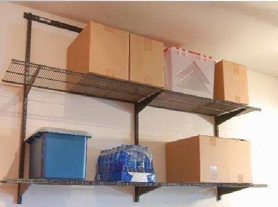 garage wall mounted shelving garage shelving ideas. Black Bedroom Furniture Sets. Home Design Ideas