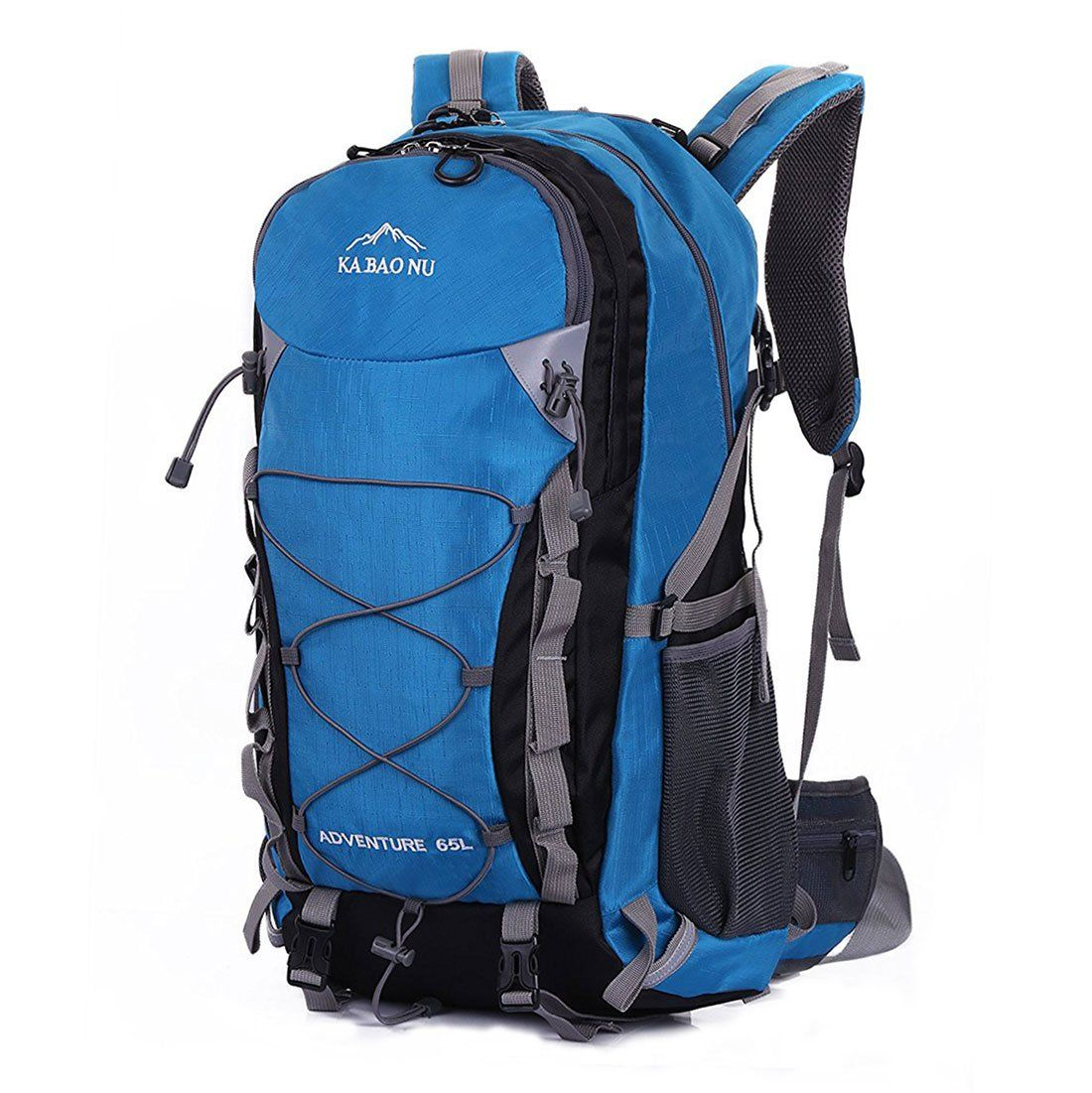 16a8ad569d Mooedcoe 65L Waterproof Hiking Daypack Outdoor Travel Camping Backpack for  Men Sky Blue     Click image for more details. (This is an affiliate link)    ...