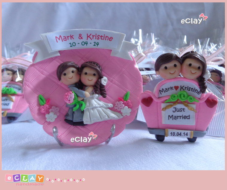 wedding souvenirs, keepsakes, plate, couple polymer clay, handmade, eclay