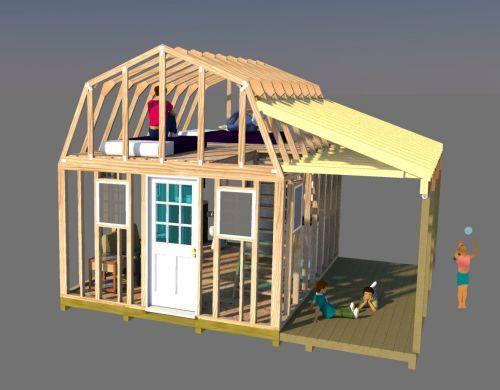 12x16 Barn With Porch Plans Barn Shed Plans Small Barn Plans Shed To Tiny House Small Barn Plans Shed With Loft