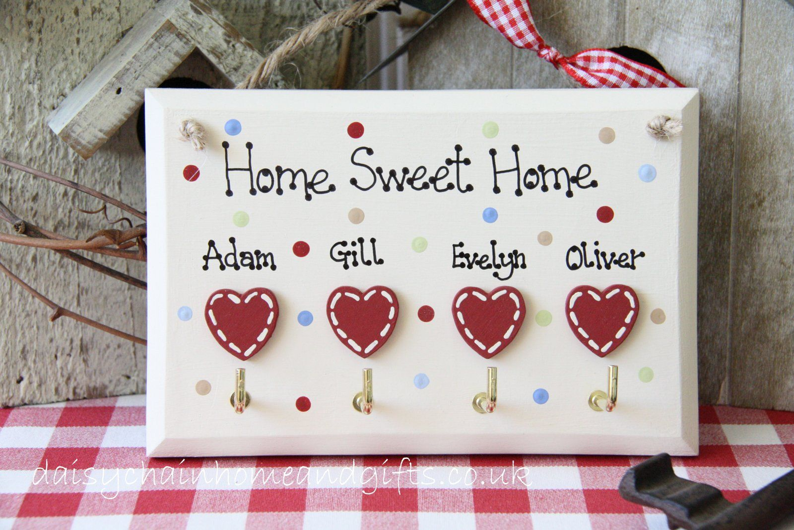 Personalised Home Sweet Home Key Holder from www ...