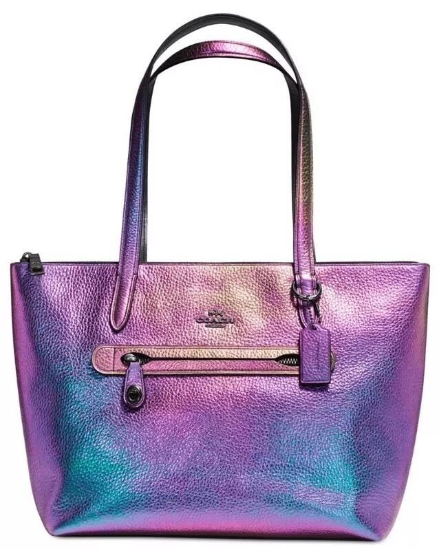 b73dc87d5465 COACH Taylor Tote in Hologram Iridescent Leather Purse Style 57329 ...