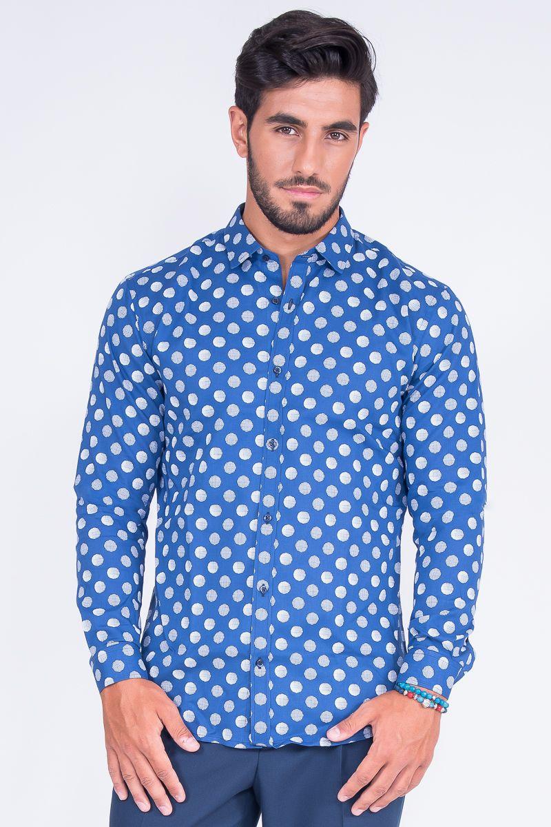 Slim Fit Shirt In Big Polka Dot