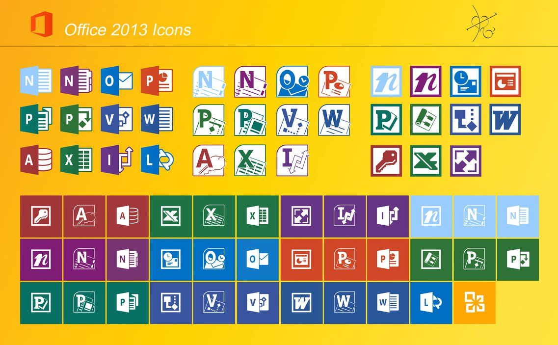 Pack Office Microsoft 2013 Office 2013 Icons By Dtafalonso Ms Office Icon Pack Office