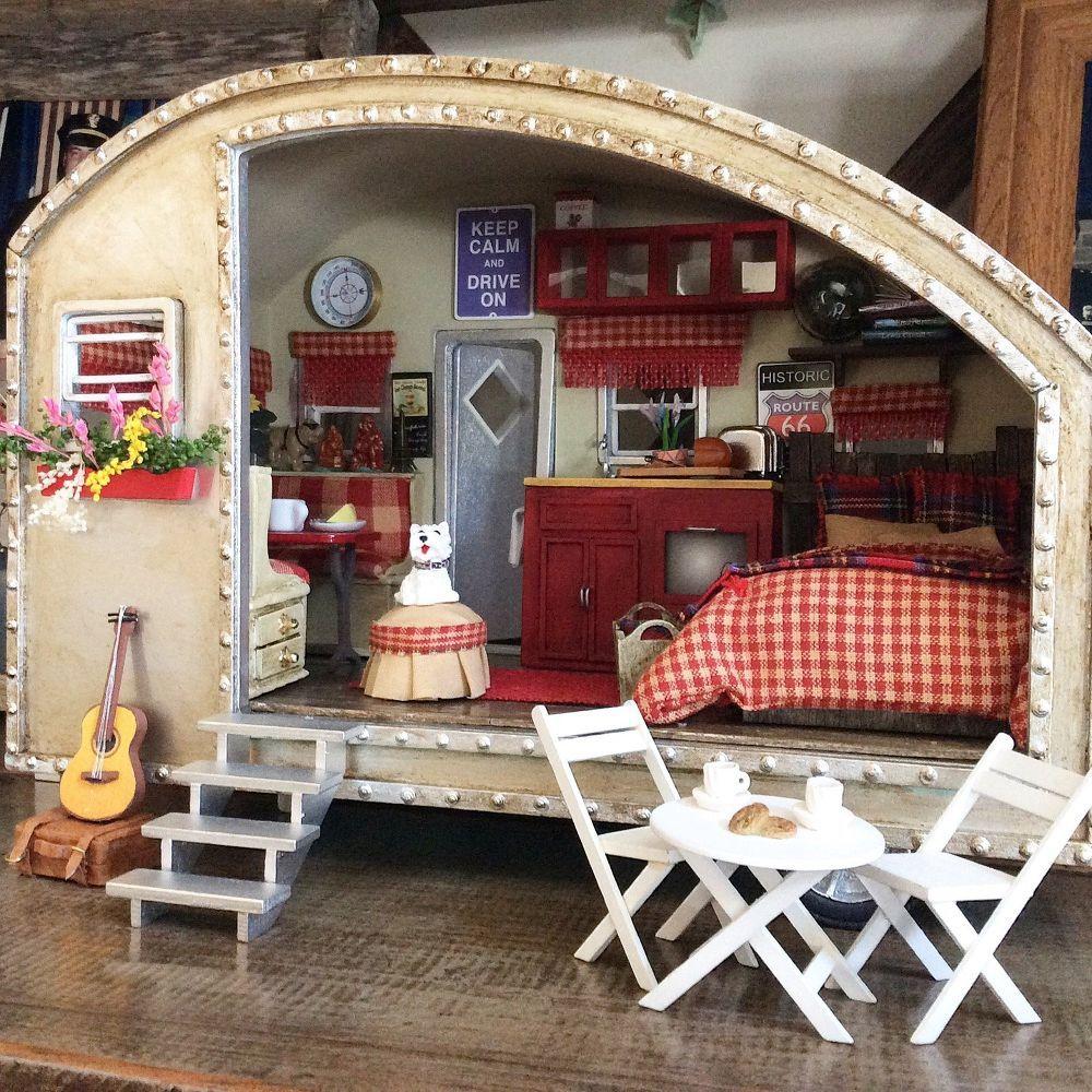DIY Miniature Tiny Trailer Dollhouse | Mini doll house ...