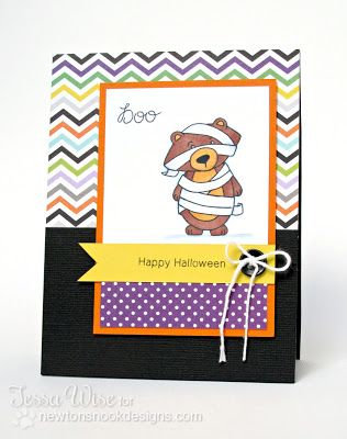 Halloween Bear Mummy Card By Tessa Wise For Newtons Nook Designs