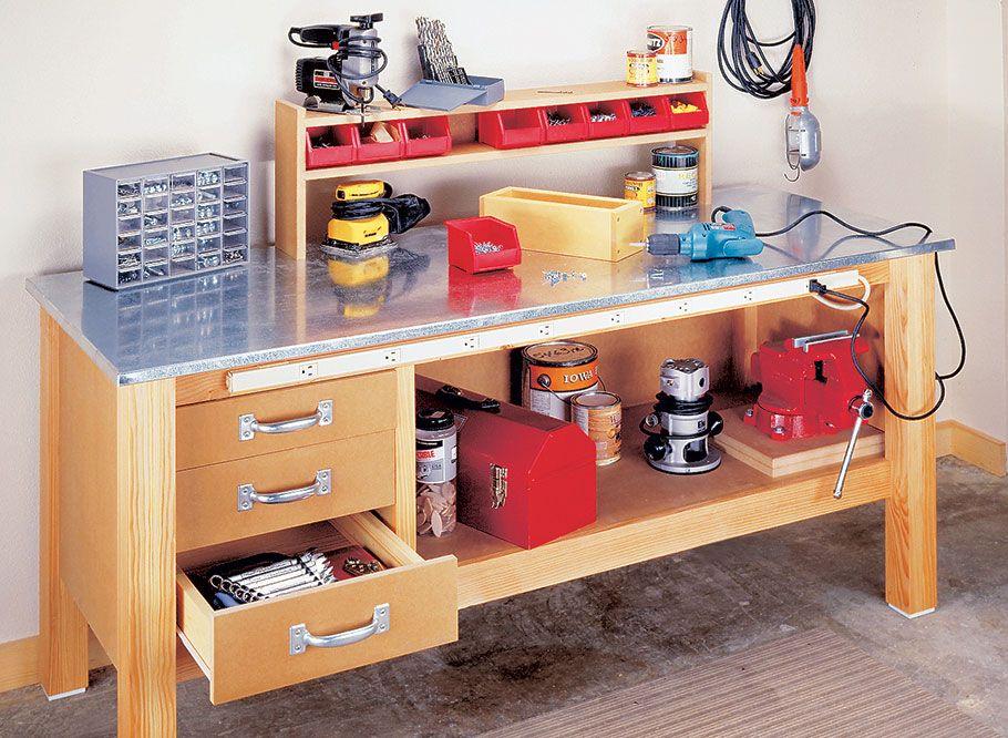 utility workbench woodworking project woodsmith plans on top 55 best garage workshop ideas basics of garage workshop ideas explained id=66589