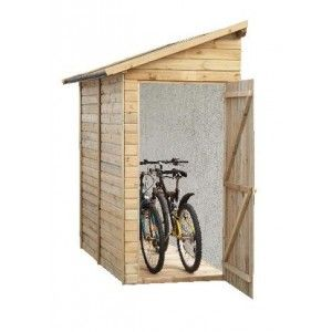 Abri bois range vélo, Adossable, 19 mm, jardin, Madeira, pas cher ...