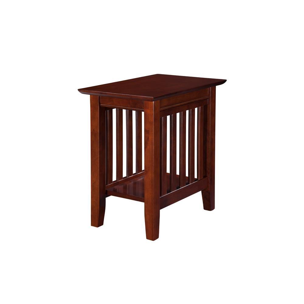 Atlantic Furniture Mission Walnut Chair Side Table Ah13204 Atlantic Furniture Chair Side Table Walnut Chair
