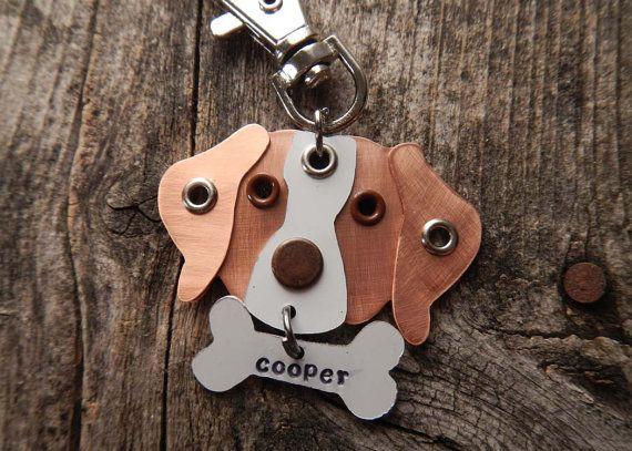 Keychain ID Key Chain Tag Brittany Spaniel Dog Breed by PoochTags, $15.00