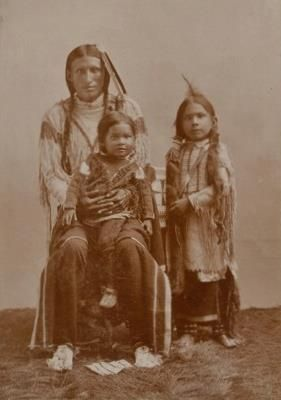 Southern Cheyenne father and sons - circa 1895