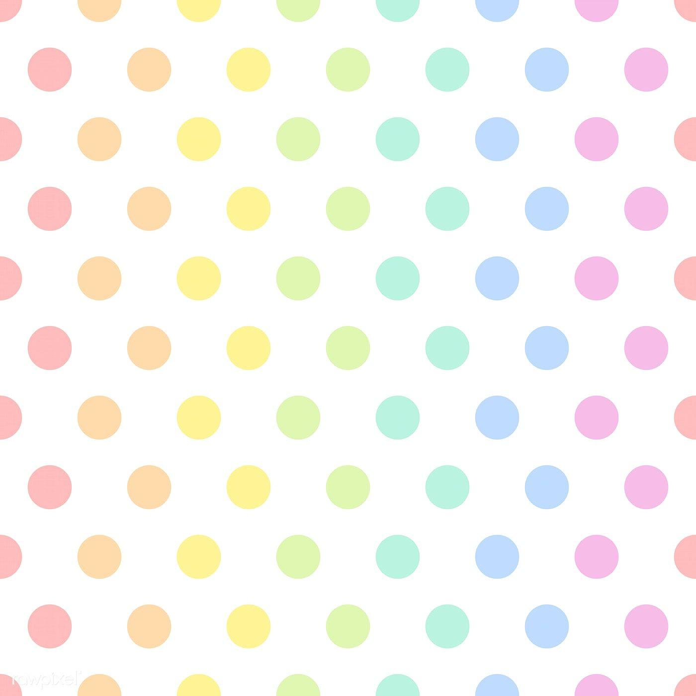 Seamless Colorful Polka Dot Pattern Vector Free Image By Rawpixel Com Manotang Polka Dots Wallpaper Dot Pattern Vector Polka Dots Wallpaper Background