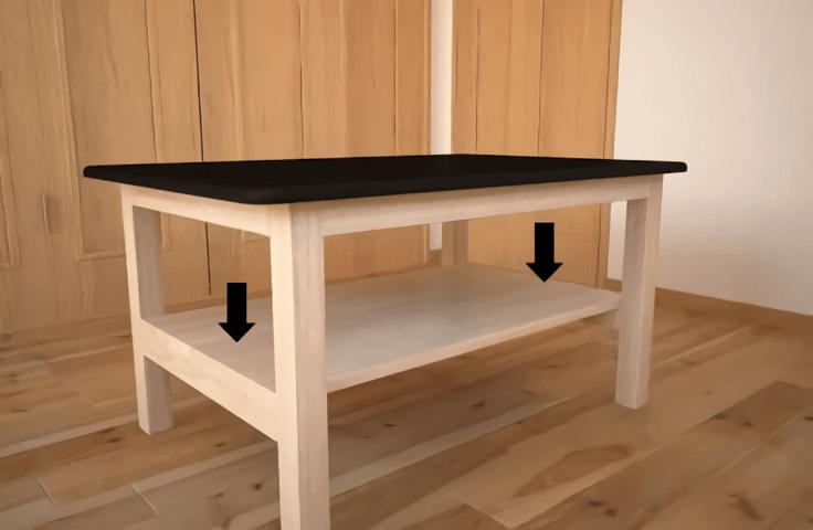 脚だけ作って既製天板をくっつけます 材料イメージ 既製品の天板に脚を作って付けてローテーブルを作ります 基本はボンドで接着しますが 強度を上げる場合はネジや釘などを使用して下さい 角材をカット まずはbのパイン角材 ダイニングテーブル diy 作り方