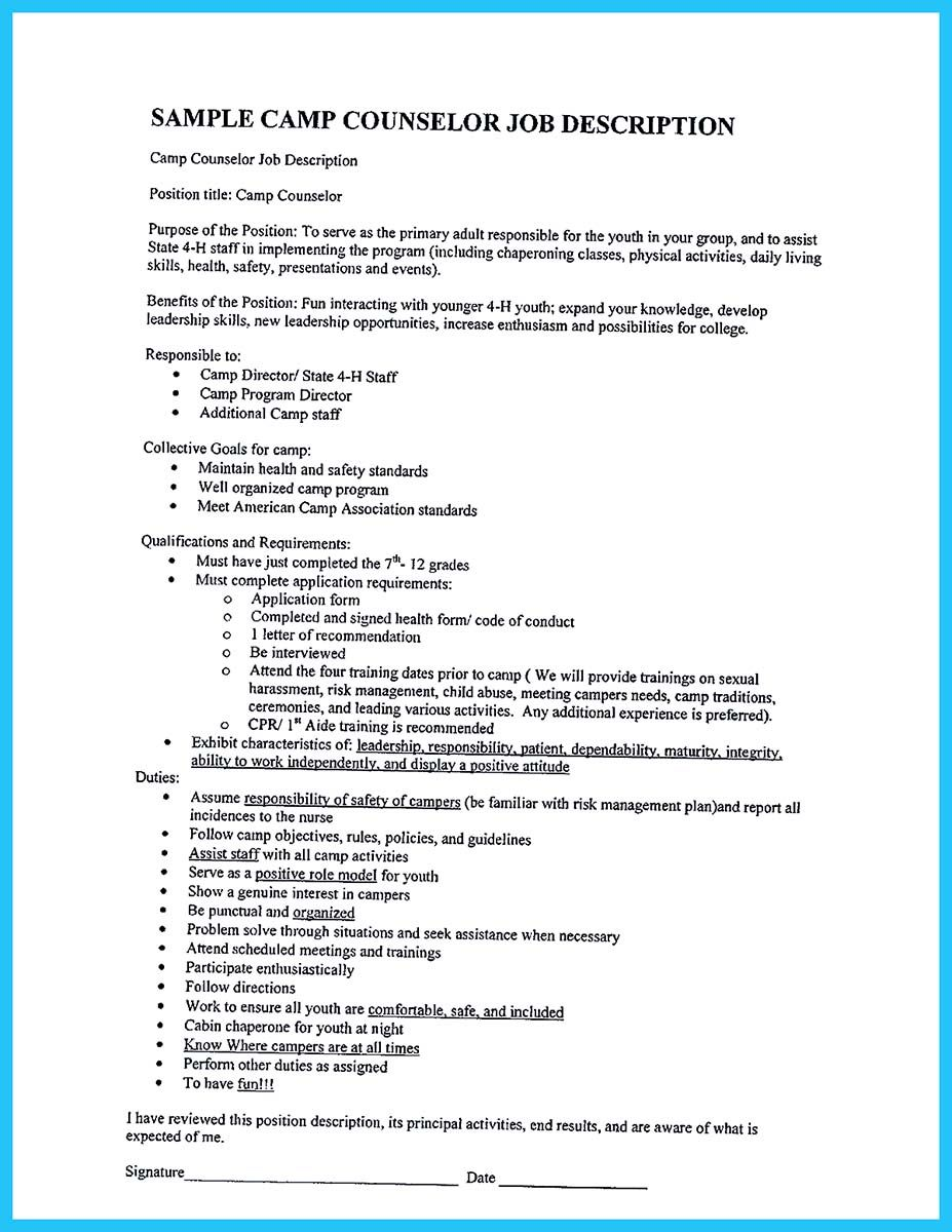 19+ What to put on resume for camp counselor Resume Examples