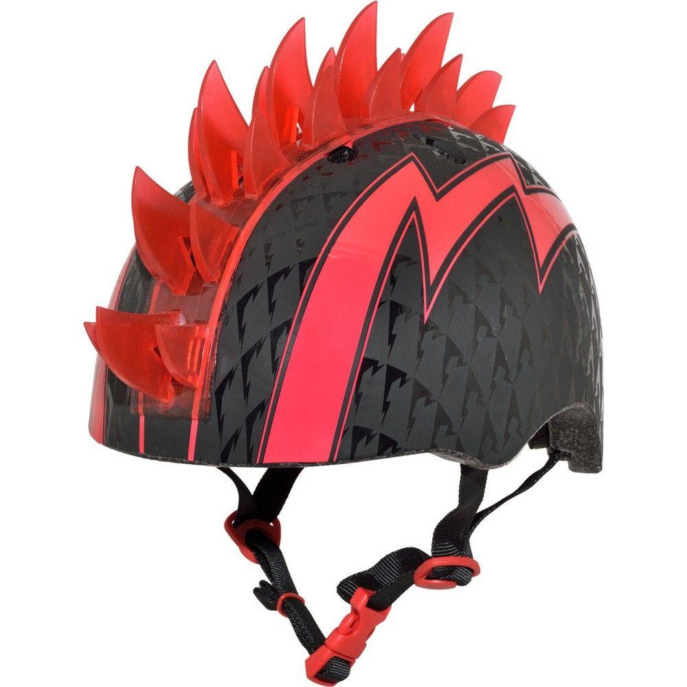 Raskullz led bolt light up mohawk child helmet blackred mohawks