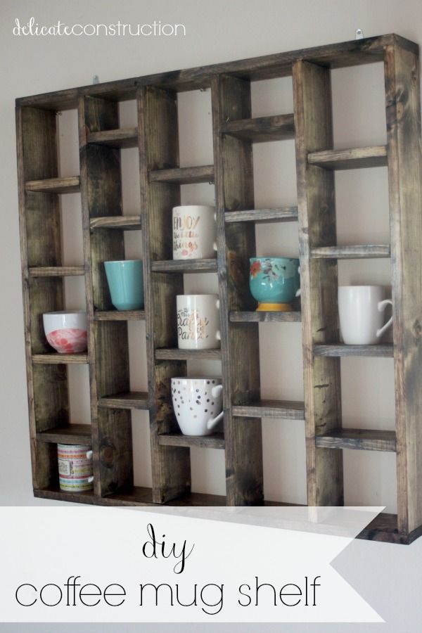 Diy Coffee Mug Shelf Delicate Construction Diy Toy Storage Diy Coffee Bar Diy Coffee