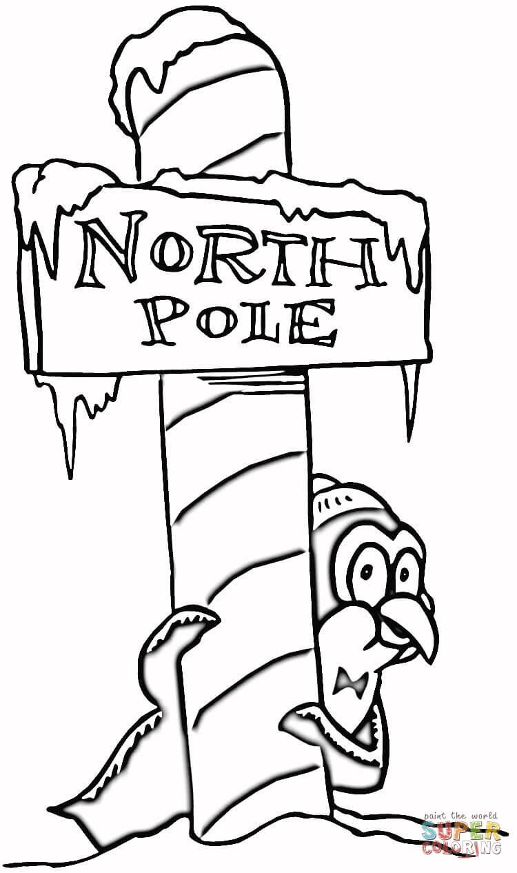 Click On The Below Best Printable Christmas North Pole Coloring